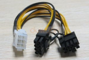PCI Express Power Splitter Cable 6 Pin to Dual 6+2 Pin (6pin/8pin) 18 AWG pictures & photos