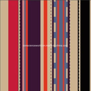 100%Polyester Coffee Stripe Pigment&Disperse Printed Fabric for Bedding Set pictures & photos
