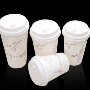 Anhui Paper Cup 7 Oz for Hot Coffee White Paper Tea Cups with Lids pictures & photos