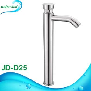 High Rise Time Delay Water Faucet Wash Basin Mixer pictures & photos