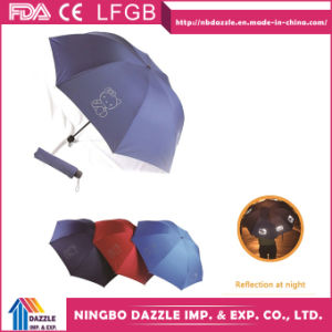 Wholesale Promotional Gift Outdoor Rain Reflective Folding Umbrella pictures & photos