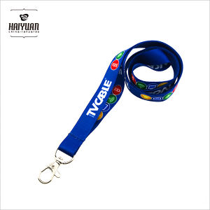 Blue Sublimation Printing Lanyard with Metal Hook pictures & photos