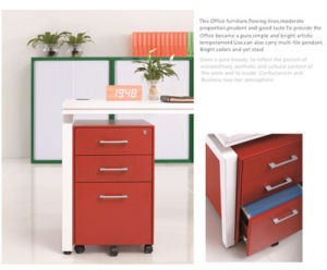 Moveable Metal Filing Cabinet with Aluminium Handle pictures & photos