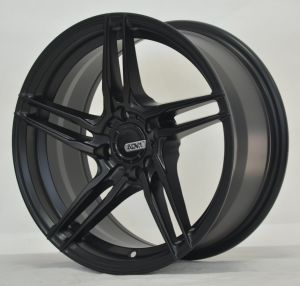 Thin sopke casting alloy wheel with black machine face pictures & photos