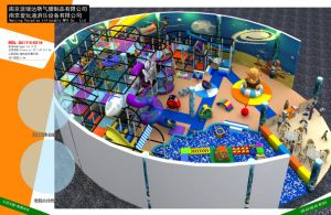 Neat Space-Themed Indoor Amusement Park Equipment Set with Children Toy pictures & photos