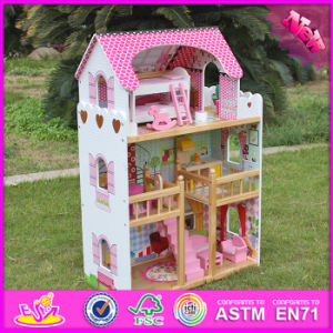 2016 Wholesale Kids Wooden Big Dollhouse, Beautiful Baby Wooden Big Dollhouse, Popular Children Wooden Big Dollhouse W06A163 pictures & photos