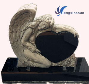 Angel Black Granite Carving Headstone pictures & photos