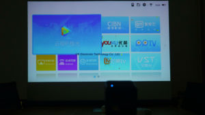 The Latest Okp1 Long Standby Time Android 5.1 WiFi Mini Projector pictures & photos
