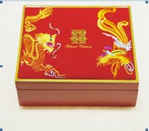 Chinese Dragon and Phoenix Wedding Jewelry Box