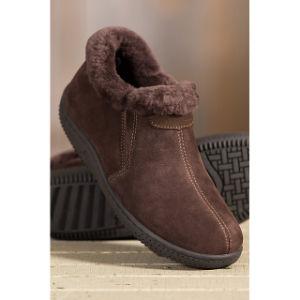 Men′s Sheepskin Slipper Shoes Warm Sheepskin Shoe pictures & photos