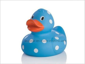 Blue Vinyl Duck with White Spot Duck Toy pictures & photos