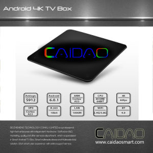 Android7.1 Caidao Smart TV Box Amlogic S912 Octa Core TV Box 2g/16g LAN 4k WiFi Dlna Kod17.1 pictures & photos