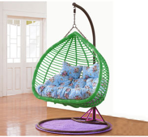 New Outdoor Swing Egg Chair, PE Rattan Furniture, Rattan Basket Double Seater (D152A) pictures & photos