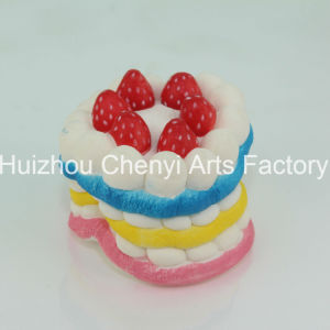 OEM Slow Rebound Colorful Food Shape PU Foam Cake pictures & photos