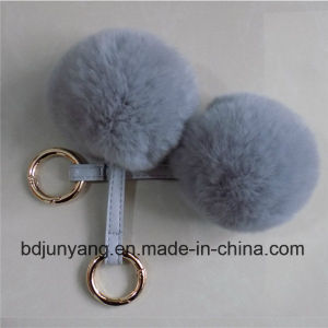 Woman Bag Trimming Real Rabbit Fur Ball Pompons pictures & photos