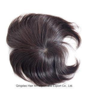 Mono Silk Base PU Around Remy Human Hair Men′s Toupee pictures & photos