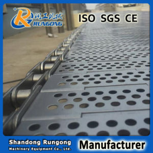 Heat Resistance Plate Linked Perforated Conveyor Belt for Biscuit Machine pictures & photos