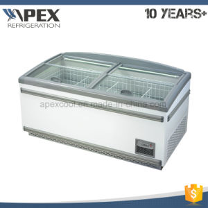 Supermarket Auto-Defrost Curve Glass Door Combine Island Freezer with Europe Style pictures & photos