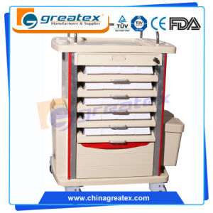Plastic Medicine Trolley with Four Aluminum Columns (GT-Q201) pictures & photos