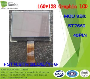 160X128 Graphic LCD Screen, MCU 8bit, St7669, 40pin, Cog FSTN LCD Panel pictures & photos