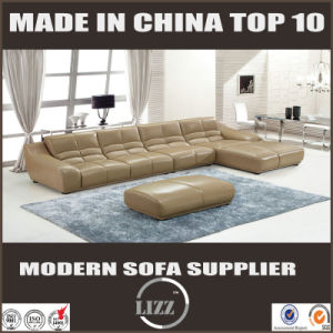 Comfortable Chaise with Leather Sofa Lz993 pictures & photos