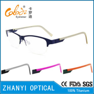 Latest Design Beta Titanium Eyeglass Eyewear Optical Glasses Frame (8329)