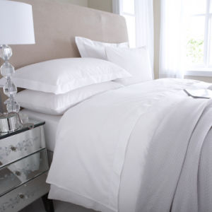 Egyptian 200 Thread Cotton Percale Hotel White Bed Linen pictures & photos