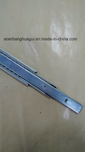 Commom Three-Sections Ball Bearing Slide (shaped groove) pictures & photos