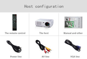 HD Mini Projector HDMI Built-in WiFi VGA LED Mini Data Projector for Home Cinema pictures & photos