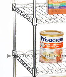 Galvanized Wire Shelving, Wire Stacking Shelves, Wire Security Carts pictures & photos