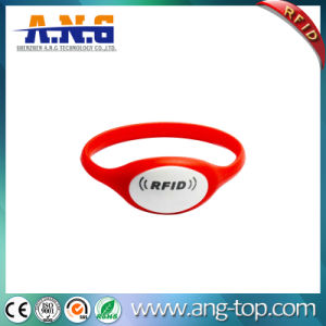 77mm diameter Red 1k compatible RFID silicone bracelet pictures & photos