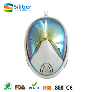Rainbow Mirror Lenses 180 Degree Panoramic Seaview Full Face Mask for Snorkel pictures & photos