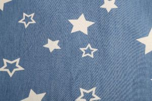 Lovely Design Many Pattern Discharge Printed Denim Fabric for Lady Jeans Blouse pictures & photos