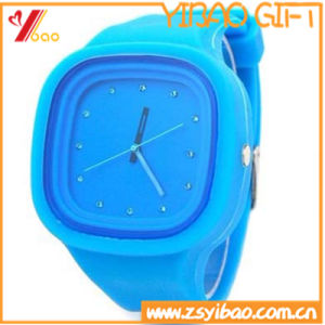 Fashion Green Sport Waterproof Silicone Watch Customed (YB-HR-148) pictures & photos