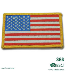 USA Flag Embroidery Patch Badge for Clotch pictures & photos
