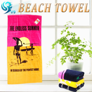 Wholesale Reactive Velour Beach Towel pictures & photos