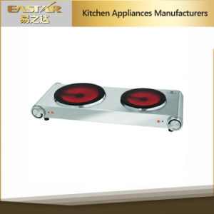 GS A13 Double Burner Stainless Steel High Quality Glass Ceramic Stove Infrared Cooker pictures & photos