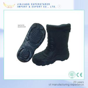 Factory EVA Injection Unisex Black Winter Snow Boot pictures & photos