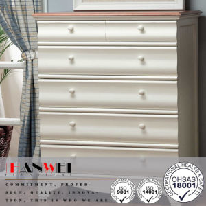 Wooden Furniture 5 Drawer White Chest pictures & photos