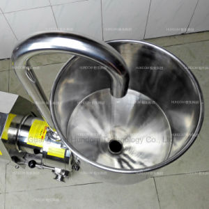 Sanitary High Shear Trolley Emulsion Pump with Hopper pictures & photos