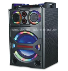 Outdoor Multimedia Karaoke Speaker Subwoofer RMS 80W Trolley Speaker pictures & photos