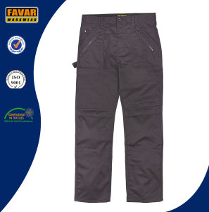 Cordura Reinforced Knees Black Mens Multi-Pockets Work Trousers