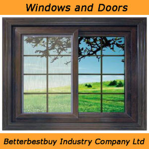 Factory Wholesale UPVC Window with Grill pictures & photos