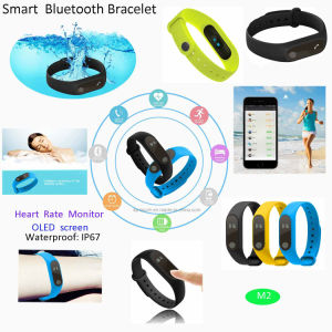 Hot Simple Wrist Band Smart Bluetooth Bracelet with OLED Display M2 pictures & photos