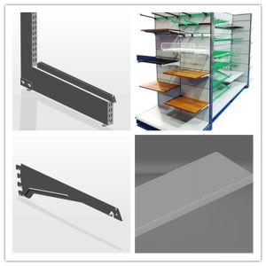 Metal Display Shelves for Supermarket pictures & photos