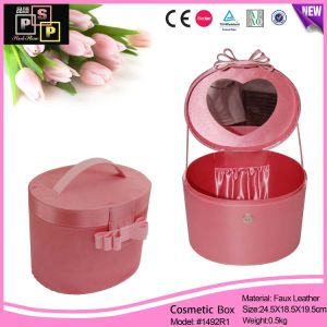 Girls Best Gift Tall Round Cosmetic Storage Box (1492) pictures & photos