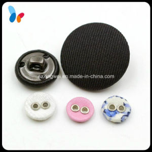 Black Fabric Cover Button with Metal Shank pictures & photos