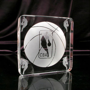 Crystal Glass Cube Trophy for Basketball pictures & photos