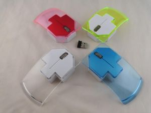 New Colorful 2.4G Crystal Wireless Arrows Computer Mouse pictures & photos
