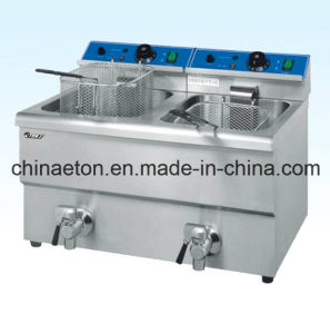 Ce Approved Double Electric Fryer (ET-FE-12L-2) pictures & photos